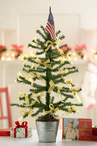 Tie Yellow Ribbon Tree