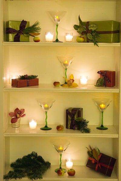 Martinis on Bookshelf