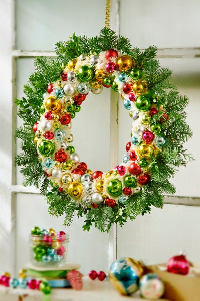 Colorful Ornament Wreath