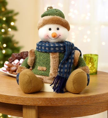 Festive Snowman Plush Sweets Tower