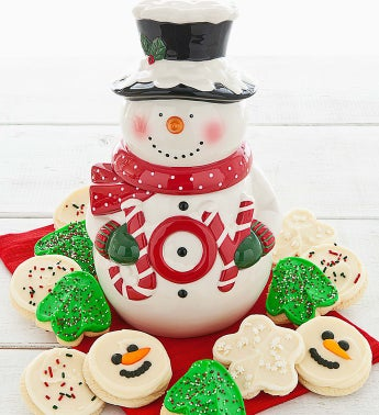 Cheryl's Collectors Edition Snowman Cookie Jar