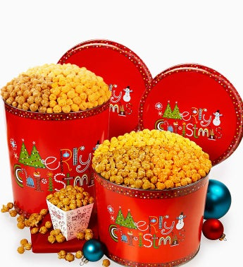 The Popcorn Factory® Merry Christmas Popcorn Tin