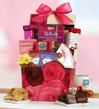 Roses Decadent Sweets Basket