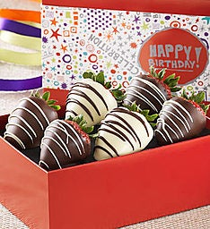 Birthday Chocolate Covered Strawberries