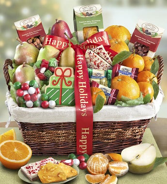 Holiday Gathering Fruit & Sweets Basket