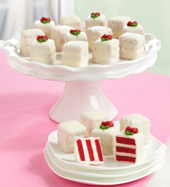 Red Velvet Petit Fours