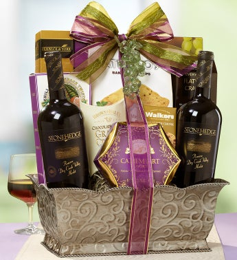 Fruit of the Vine 2 Bottle Wine Basket