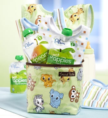 Baby on the Go Chibi Zoo Bottle Bag Gift Set