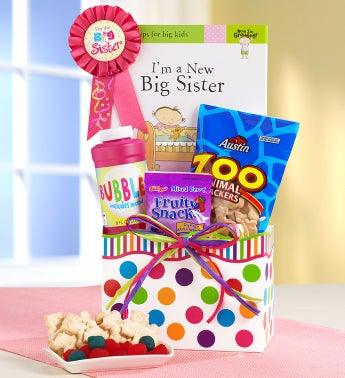 I'm a Big Sister Gift Basket with Book