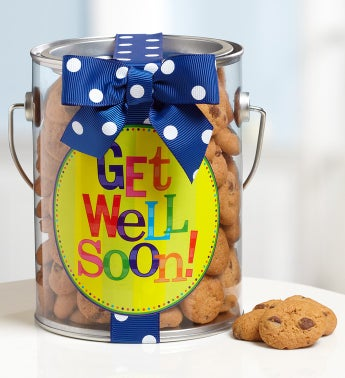 Get Well Soon! Chocolate Chip Cookies in a Can