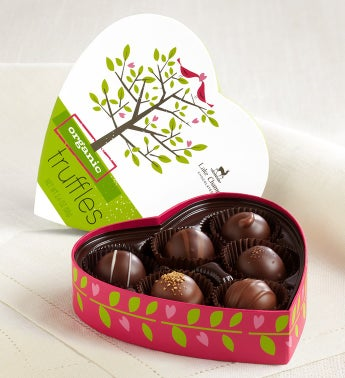 Lake Champlain® Organic Truffles in Heart Box