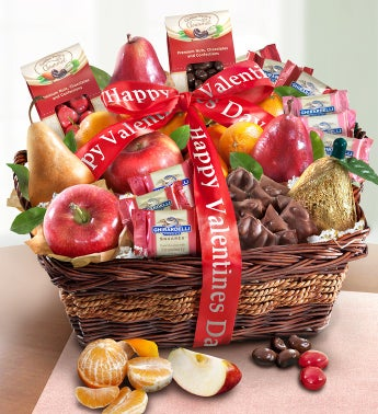 Be Mine Valentine Fruit and Chocolates Gift Basket
