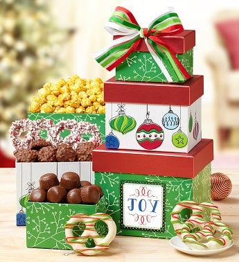 Holiday Joy Tower with Harry London® Chocolates