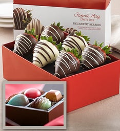 Fannie May 6 Ct Strawberries & 4 Pc Artisan Bundle