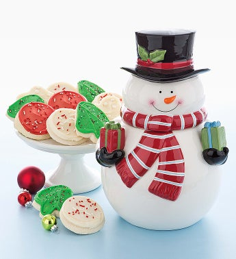 Cheryl's Collectors' Edition Snowman Cookie Jar