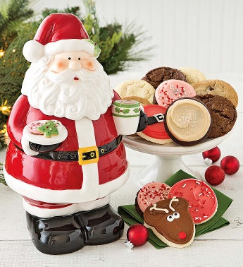 Cheryl's Collectors' Edition Santa Cookie Jar