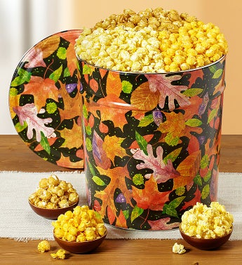 The Popcorn Factory® Fall Colors Popcorn Tins