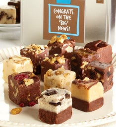 Congrats on the BIG News! Gourmet Fudge Tin