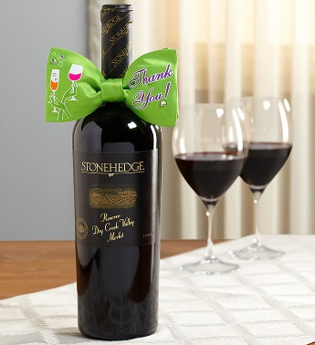Thank You Tie & Stonehedge® Reserve Merlot Wine