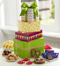 Birthday Presents Sweets Tower