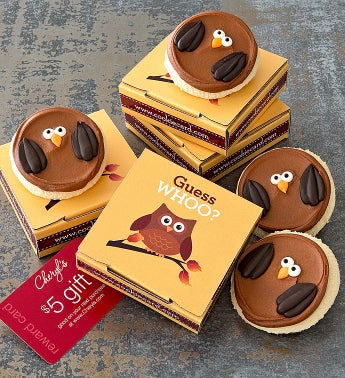 Cheryl's Fall Owl Cookie Card
