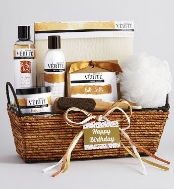 Happy Birthday! Relax and Pamper Her Spa Basket
