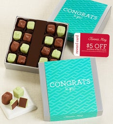 FANNIE MAY CONGRATS MINT MELTAWAY  CHOC CARD