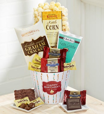 Happy Birthday Sweet Greetings Basket