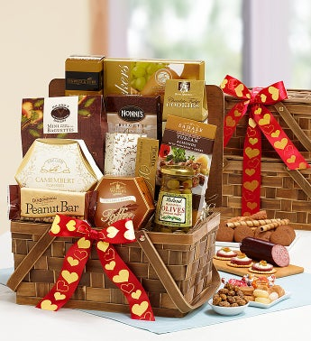 Happy Valentines Day Delectable Duo Gift Baskets