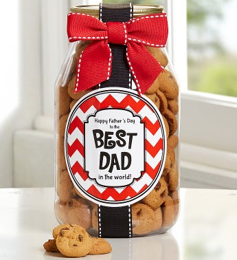 To The Best Dad! Chocolate Chip Cookie Jar
