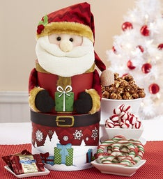 Sweet Treats Santa Keepsake Tower