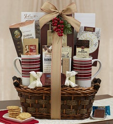 The Coffee Connoisseur Gift Basket w/Mugs