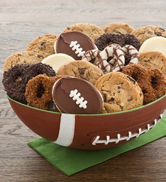 Cheryl's Football Party Bowl - Cookies and Pretzels