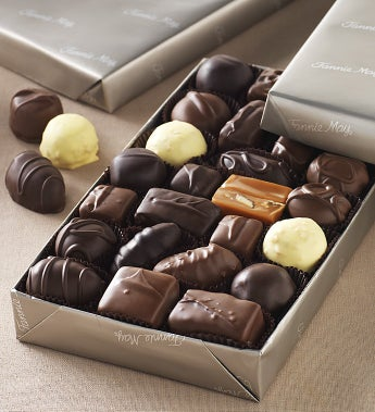 Fannie May Milk & Dark Asst Chocolates gluten free