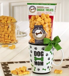Dog Mom Mug with All Natural DoggieTreats