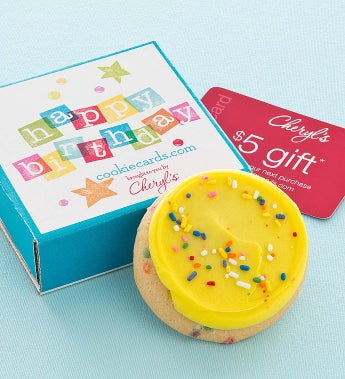 Cheryl's Birthday Cookie Card Greeting