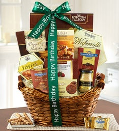 Have a Relaxing Birthday! Gourmet Gift Basket