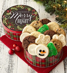 Cheryl's Merry and Bright Assorted Cookies Tin