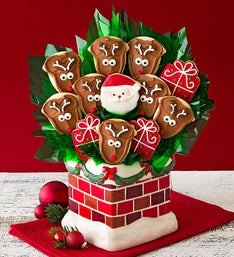 Cheryl's Holiday Chimney Cookie Flower Pot