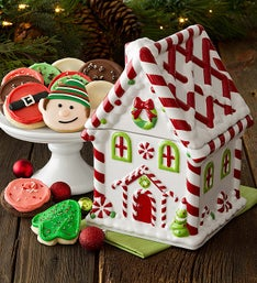 Cheryl's Collectors Ed. Holiday House Cookie Jar