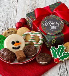 Cheryl's Merry and Bright Plaid Treats Gift Box