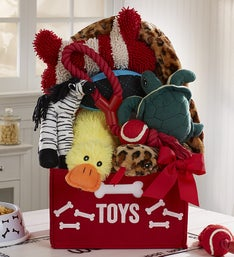 Fuzzy Friends Ultimate Dog Toy Bin