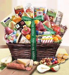 Happy Birthday Fruit U0026 Sweets Basket