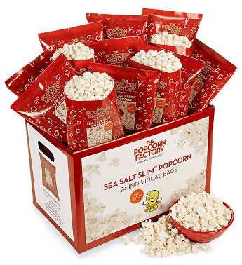 The Popcorn Factory Sea Salt Slim Popcorn 24pk