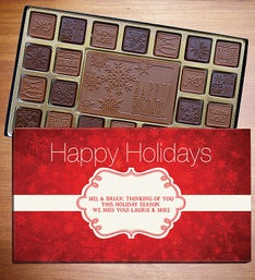 Happy Holidays Personalized Chocolate Box