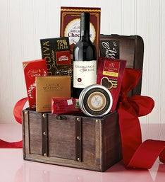 Luxury Valentine Wine & Gourmet Trunk