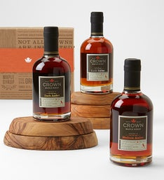 Crown Maple Organic Maple Syrup Trio Gift Set