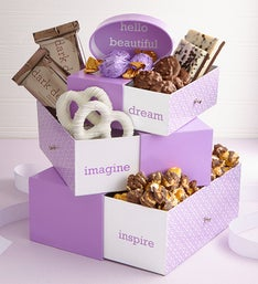 Sweet Notes Spring Chocolates Tower