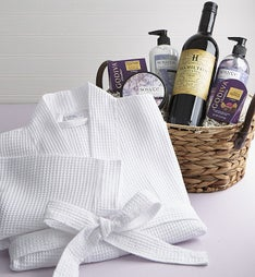 Pampered Perfection Spa Basket with Wine