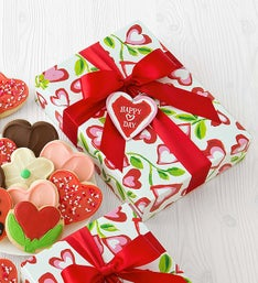 Cheryl's Hearts & Flowers CutOut Cookie Box